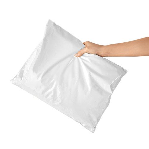 ซองไปรษณีย์พลาสติกสีขาว เกรดประหยัด ไม่จ่าหน้าซอง