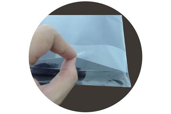 ถุงแก้ว ลิ้น พลาสติกใส มีเทปกาว